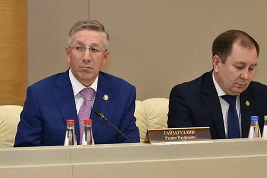 Радик Гайзатуллин (слева):«Напряженное исполнение бюджета связано сколебанием цен нанефть инефтепродукты»