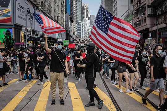 «Повестку прогрессивных групп Гонконга, участвующих в протестах, в соцмедиа помогают распространять их единомышленники из Великобритании, США и Австралии»