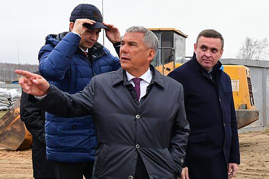 Логистический бум вЗеленодольске: Минниханов запустил стройку складов Ozon иWildberries