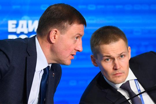 Андрей Турчак (слева) и Александр Грибов