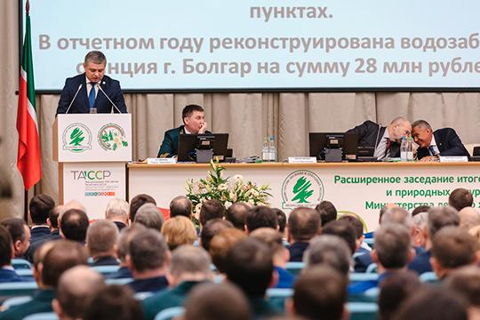 На совместной коллегии министерства экологии и минлесхоза первым подводить итоги 2019 года взялся Александр Шадриков