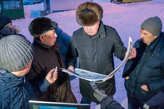 Раннее субботнее утро мэр автограда Наиль Магдеев посвятил ознакомлению с ходом строительства Соборной мечети «Джамиг»