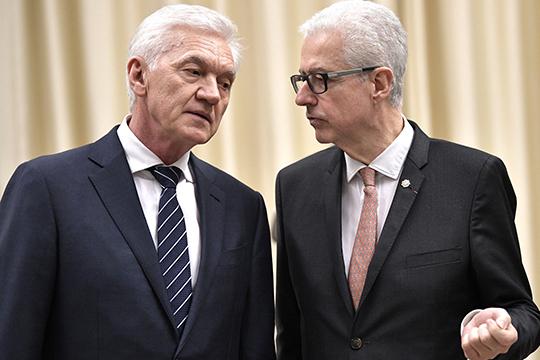Представительство союзников Геннадия Тимченко (слева) висполнительной власти растет, аэкономические проекты успешно развиваются