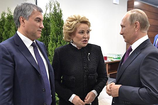 Происходит постепенный ростактивности Вяеслава Володина иВалентины Матвиенконавнешнеполитическом фронте