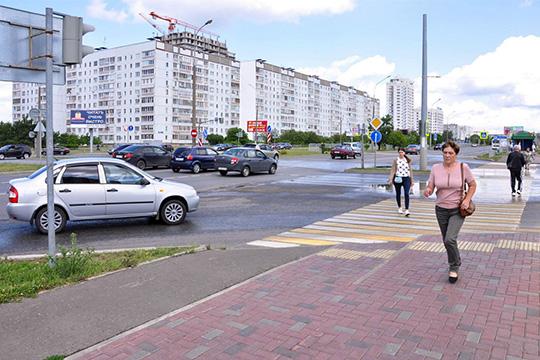 Новые идеи ГИБДД Челнов: потоки автомобилей ипешеходов пустили вместе