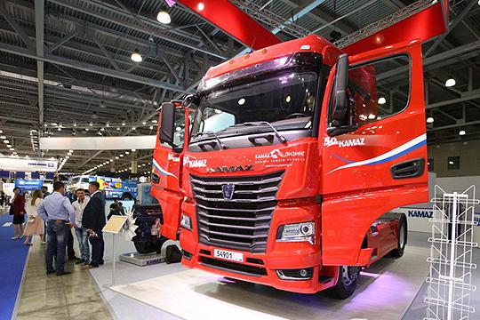 Новую модель магистрального тягача КАМАЗ-54901, серийные модели которого заводпредставилнаComtrans-2019