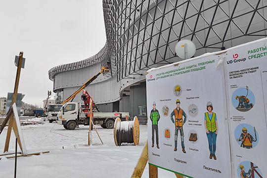 Фасад создан новосибирской компанией «Несущие системы» под руководством Алексея Кашина, говорит Сахабеева