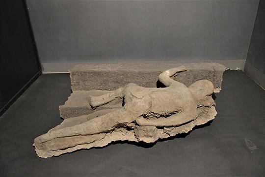 Одна из жертв вулканического извержения в Помпеях