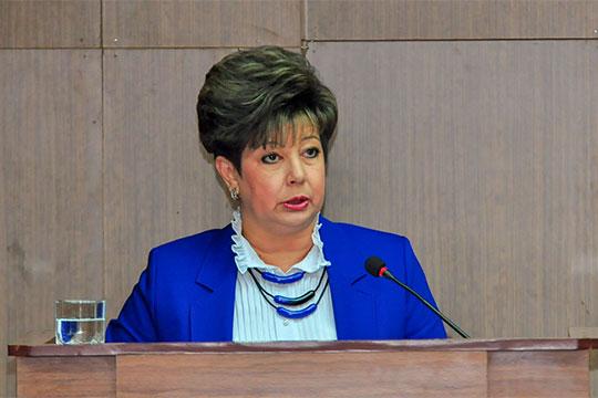 НаталияКропотова отметила, что наблюдается рост доли инвестиций вваловом территориальном продукте: от22,6% в2014 году до26% втекущем