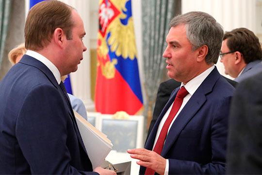 Вячеслав Володин (справа)