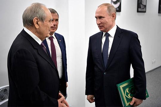 Как только Путин увиделся сМиннихановым, первым делом глава государства справился, как поживаетМинтимерШаймиев