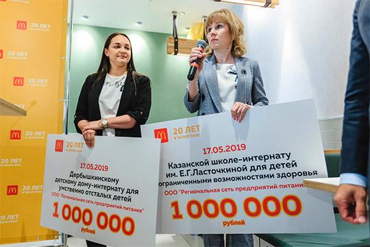 За20 лет наблаготворительные цели вТатарстане компания передала более 155млн рублей