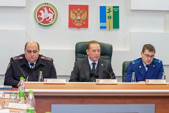 На фоне челнинской зачистки совещание по профилактике правонарушений в Нижнекамске провел и мэр Айдар Метшин