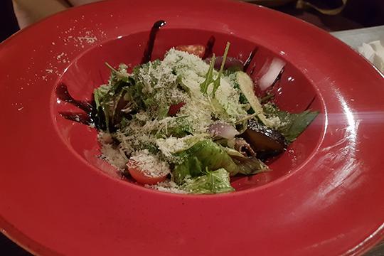Теплый салат стелятиной