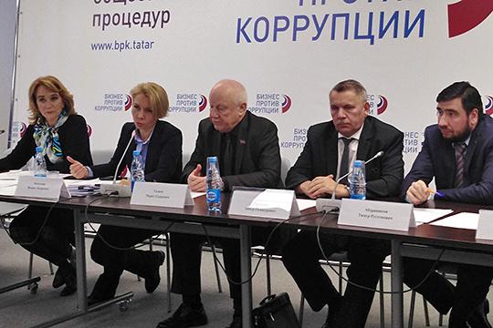 Гульнара Сергеева (слева) отметила, что именно из-за количества проверок и штрафов, накладываемых контрольно-надзорными органами, Татарстан спустился на 2-е место в рейтинге инвестиционного климата