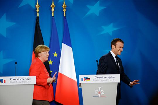 «Основа ЕС — это ФРГ и Франция, два государства. А они вошли в кризисный период» (на фото – канцлер ФРГ Ангела Меркель и президент Франции Эммануэль Макрон)