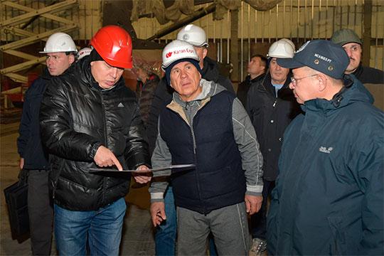 «Надо сказать, что везде есть участие президента Рустама Нургалиевича. Можно сказать, нет объектов, где он не участвует. Потому что штабная система работает»