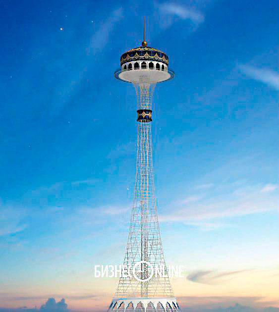 Общая высота башни — 120 метров, но смотровая площадка разместится на высоте 95 метров. Посетителей туда будут доставлять на двух скоростных лифтах