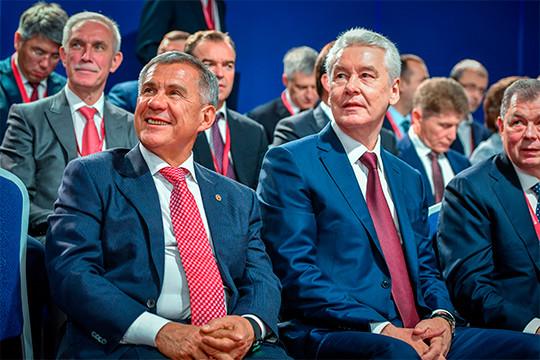 Помнению Минченко иКо, Сергей Собянин считается главным элитным партнером Минниханова в«Политбюро 2.0»