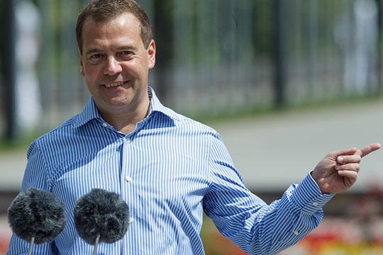 Дмитрий Медведев,судя повсему, вконце вечера онобъявит чемпионат мира порабочим профессиям открытым
