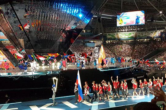 Парад спортсменов нарепетиции уложился вкомфортные 30 минут