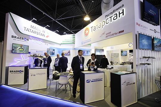 Татарстан в этом году отхватил себе отдельный стенд в павильоне авиационных регионов