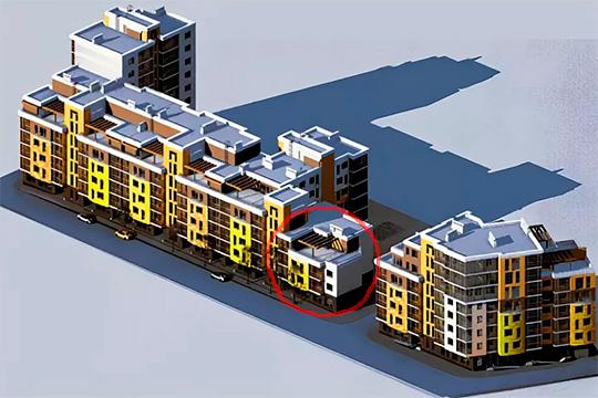 В свое время УК«ЭнергоИнвестКапитал» неразрешили строить более высотное здание, потому что«рядом пятиэтажный дом инарушается инсоляция»