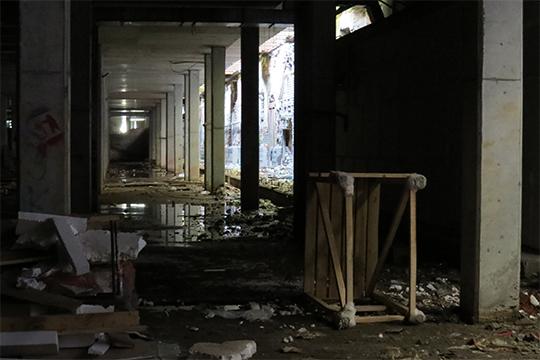 Подземная часть объекта так инебыла завершена ктысячелетию города, азатем объект законсервировали