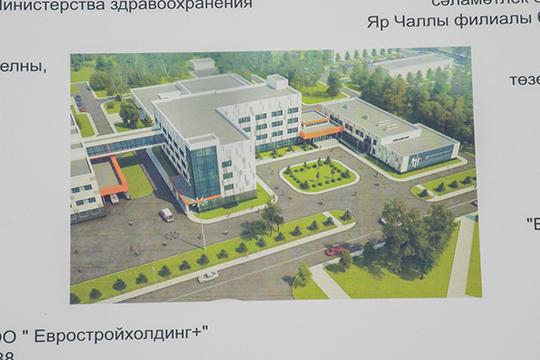 Здесь будет построен шестиэжтажный амбулаторный корпус, куда можно попадать попереходу прямо изБСМП, итрехэтажный радиологический корпус