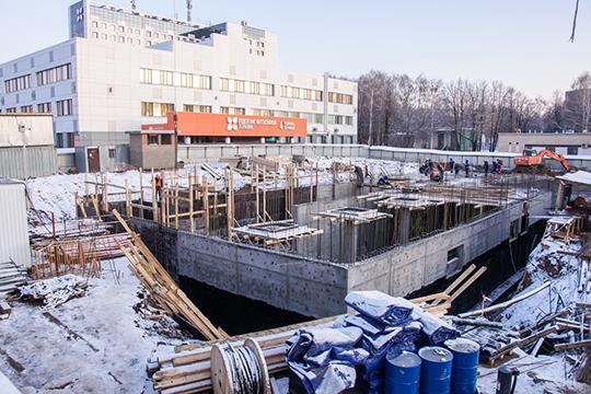 Настройплощадке трудится 114 человек. Рабочие занимаются заливкой монолитных конструкций, атакже ведут прокладку внешнихсетей кстройплощадке