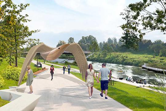 Опланах строительства парка сталоизвестноеще вмае прошлого года