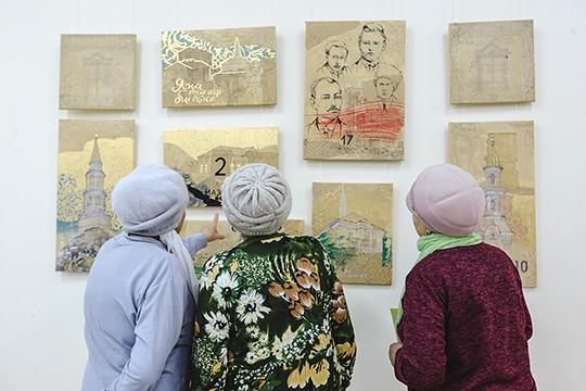 Кроме фотографий, на выставке развернулась экспозиция картин молодого казанского художника Лены Алексеевой