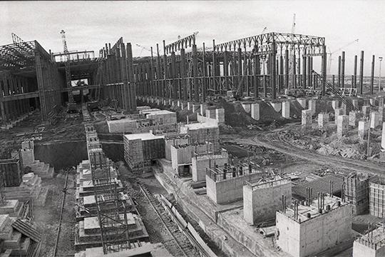 Строительство литейного завода КАМАЗ. Октябрь 1972 г.