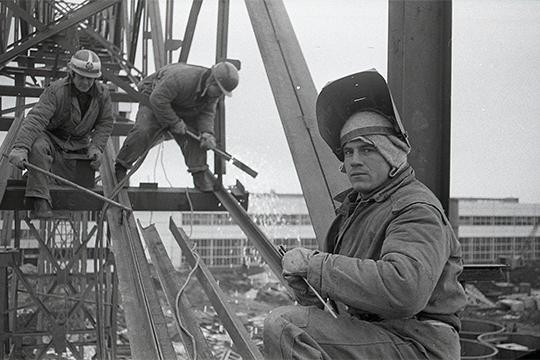 Строительство завода КАМАЗ. Октябрь 1971 г.