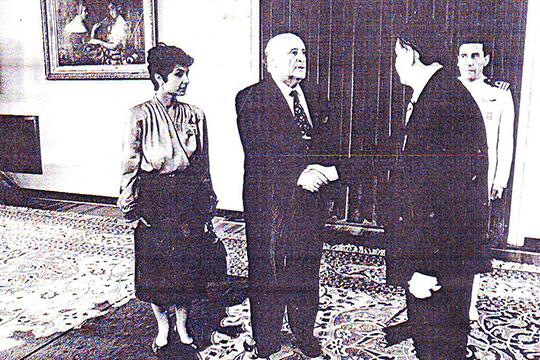Официальный прием в личном кабинете президента Турции Демиреля