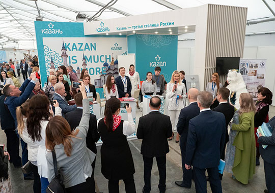 С раннего утра на «Казанской ярмарке» накануне начался первый из трех дней работы 24-й международной специализированной выставки «Туризм и спорт»