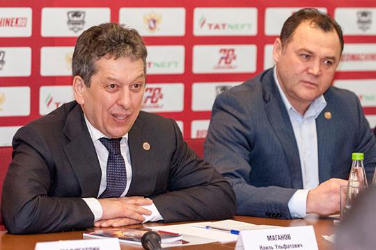 С приходом Маганова (слева) в клубе появилась должность генерального менеджера — вместе с новым президентом клуба из Альметьевска в Казань переехал Рафик Якубов (справа)