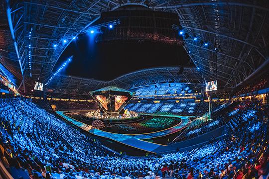 Из-за дополнительных конструкций, установленных в августе для проведения церемоний WorldSkills, футбольное поле было повреждено и в любом случае нуждается в восстановлении