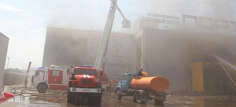 Пожар вТЦ«Порт»