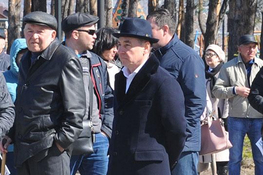Был на митинге и сам Барышев