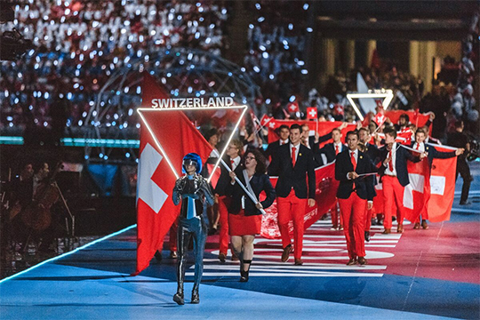 Swissinfo рассказала об исполнительности швейцарской сборной: кроме членов своей комнады, они привезли в Казань 10 тонн оборудования общей стоимостью $732 тыс.