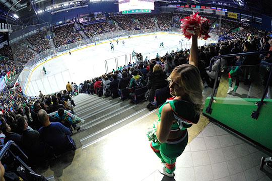 Средняя посещаемость первой части регулярного чемпионата КХЛ— 6247 зрителей, заполняемость арен— 73,5%