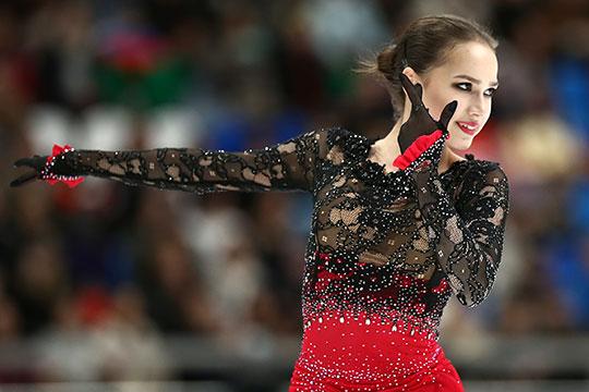 Российская фигуристка Алина Загитова стала первой наэтапе Гран-при вМоскве