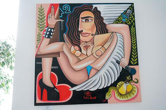 Популярность художнику принес портрет шоу-дивы Ольгой Бузовой, которой он добавил четыре руки, намекая на разносторонность ее интересов