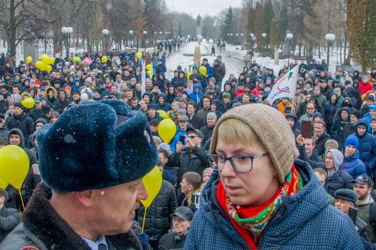 Первый, после Болотной, массовый протест был 26 марта 2017 года, и его важно здесь подчеркнуть в связи с делом Эльвиры Дмитриевой и решением Европейского суда по правам человека