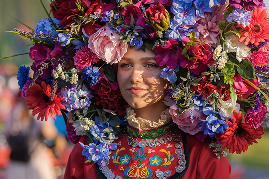 Наплощадке «Кряшен чибяре» выбирали самую красивую девушку праздника