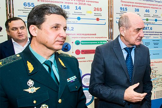АльбертМавликов (слева) наэтой неделе встретился сРенатом Тимерзяновым (справа), который вчисле прочегозанимается согласованием кандидатов изреспублики наруководящие должности вфедеральные ведомства