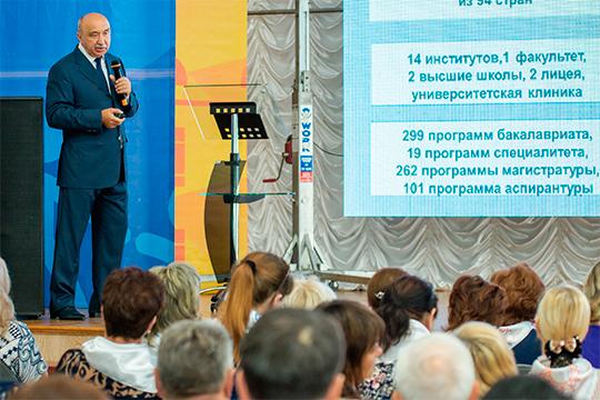 «На сегодняшний день КФУ — один из самых больших вузов России по контингенту обучающихся. В целом у нас более 51 тысячи обучающихся на всех уровнях обучения, включая подготовительный факультет»