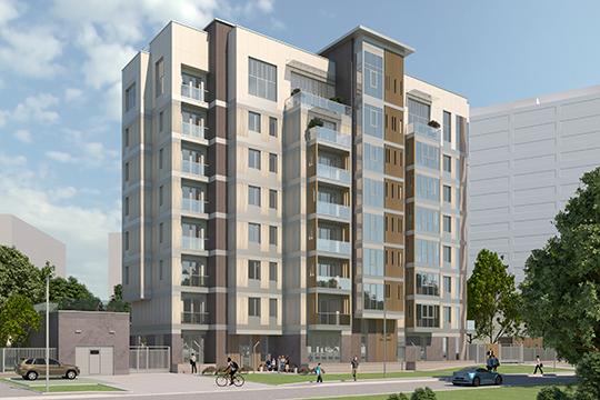 «Проект восьмиэтажного дома на 20 квартир разрабатывали архитекторы из «Творческой мастерской Токаревых». Ничего подобного в Челнах пока не строилось»