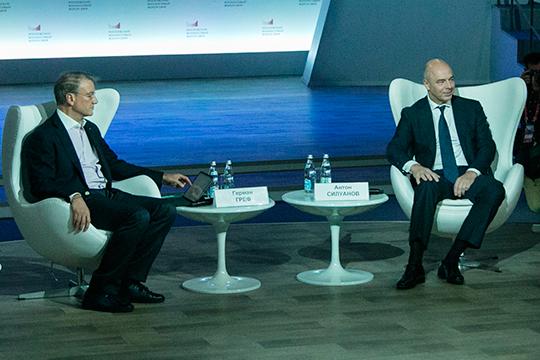 «Раradox_friends» пишет, что смена правительства позволила Герману Грефу (слева) дезавуировать атаку Силуанова (справа) наСбербанк